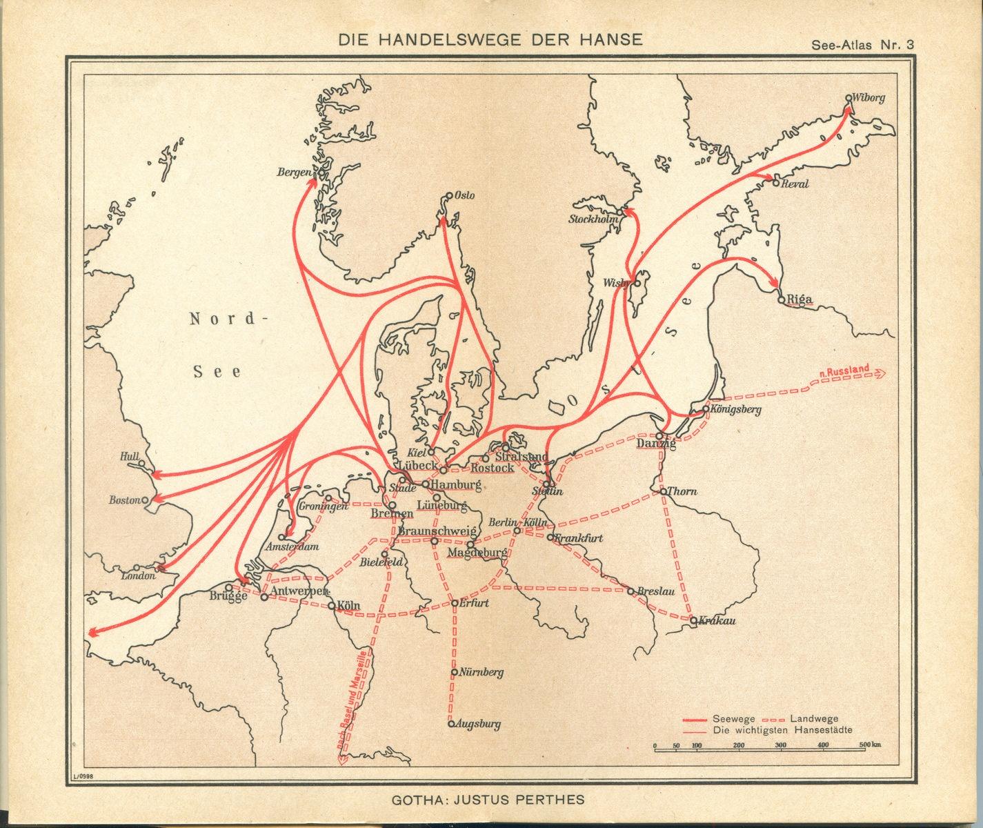 Die Handelswege der Hanse