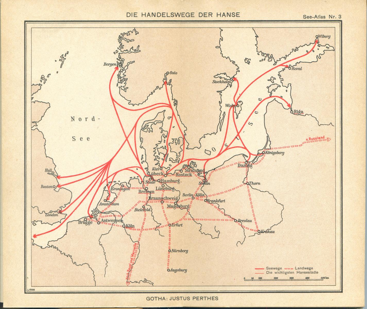 Mapa morska Bałtyku i Morza Północnego